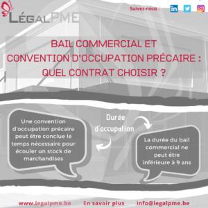 Bail commercial ou convention d'occupation précaire